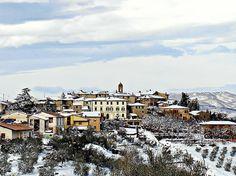 Vagliagli (Castelnuovo Berardenga): la nevicata del 2011. Foto di Sergio Visone