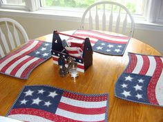 Cute fourth of July, Memorial Day or Flag Day quilting project