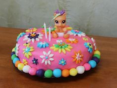 my little pony cake made with icing   ... was busy, busy making her first ever fondant birthday cake
