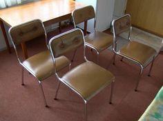 4 stoelen chroom met skai bekleding -Bieden