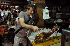 One-handed ham carving at #Duckathlon.