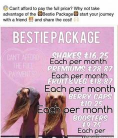 Want to try juice plus  but can't afford full payments   Then our bestie package is for u  sign up with a friend and split the cost   #thehealthconnection #easyhealth #lovemyjp