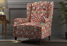 Botox Wingback Chair (Scarlet Blue) Wingback Chair, Armchair, Wing Chair, Scarlet, Accent Chairs, Wings, India, Modern, Blue