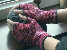 Crochet Fingerless Gloves free pattern.