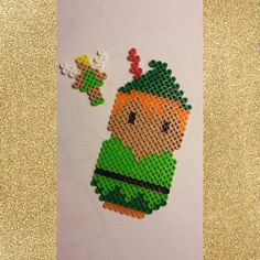 Peter Pan and Tinker Bell perler beads by kendall_024