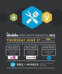 Nu donderdag: Idealabs Matchmaking BBQ