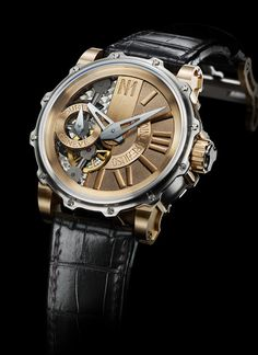 The incredibly successful, Swiss watchmaker Antione Preziuso; The Mega Tourbillon. Only five in the world, and beautifully crafted.