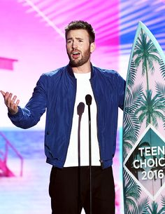 Chris Evans accepts the award for Choice Movie Actor: Sci-Fi/Fantasy onstage during Teen Choice Awards 2016 at The Forum on July 31, 2016 in Inglewood, California.