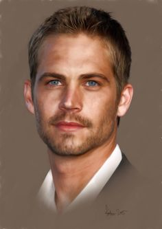 A painting of the late Paul Walker.                                                                                                                                                                                 More
