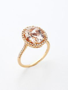 morganite rose gold ring wedding-far-away-but-never-hurts-to-look Jewelry Box, Jewelery, Jewelry Accessories, Fine Jewelry, Rose Gold Morganite Ring, Rose Gold Engagement Ring, Diamond Are A Girls Best Friend, Wedding Rings, Wedding Shit