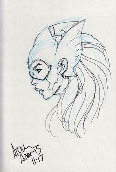 ARTHUR ADAMS - Jonni Future Comic Art