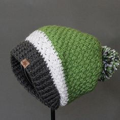 This slouch hat is all style. Sporting a totally unique stitch all the way from the top to bottom. Everyone will ask where you got it. There are so many possibilities with the pattern. It can be simple and elegant or fun and sporty. Your imagination is the limit.