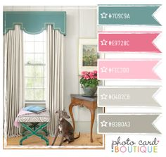 Blue and pink color palette