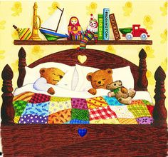 A quick bedtime story... and the cubs are out like a light!