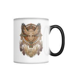 Owl Dream catcher...  order here:http://familyloves.com/products/owl-dream-catcher-color-changing-mug?utm_campaign=social_autopilot&utm_source=pin&utm_medium=pin #dadgift #momgift #nativeamerican #dadquotes #fatherday #motherday