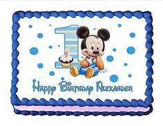 Edible Cake Topper Baby Mickey Mouse Babys 1st Birthday -- You can find more details by visiting the image link.