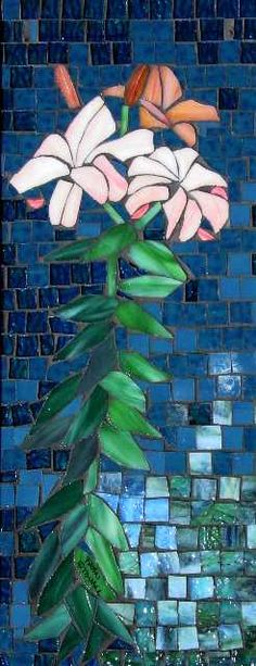 Fran Stoval :: Stained Glass, Pastel and Mosaic Artist Mosaic Flowers, Stained Glass Flowers, Stained Glass Projects, Mosaic Art, Mosaic Glass, Mosaic Tiles, Glass Art, Mosaic Madness, Art Of Man