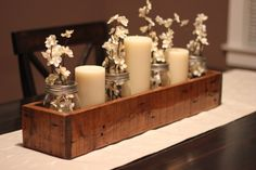 Rustic Table Centerpiece, Wooden Box, Farm Box, Garden Storage, Wooden Planter by TheWoodShopDesignCo on Etsy https://www.etsy.com/listing/464432654/rustic-table-centerpiece-wooden-box-farm