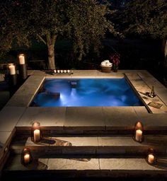 STAINLESS STEEL SPA DESIGNED WITH A PERSONAL THERAPY ALCOVE, LOUNGER,  BENCH SEAT, COOL DOWN AREA, LED LIGHTING AND AUTOMATIC COVER