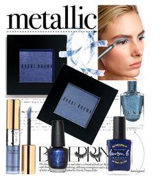 """Metallic Blue Beauty"" by burlsgurl ❤ liked on Polyvore featuring beauty, Bobbi Brown Cosmetics, Stargazer, Yves Saint Laurent, Lauren B. Beauty, OPI and metallicmakeup"