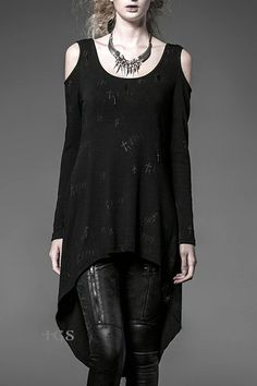 Serenity Black Gothic Top by Punk Rave
