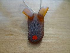 Beach Glass Reindeer Ornament 2.25 by ArcticGlass on Etsy, $15.00