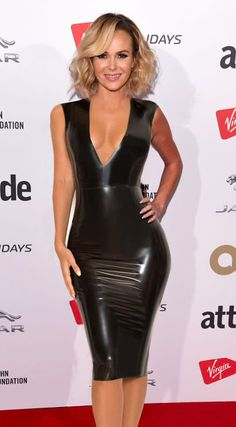 Tv presenter and talent show judge Amanda Holden wows fans in a skintight latex dress at the London Attitude awards 2017 Amanda Holden in Latex Latex Wear, Latex Dress, Sexy Latex, Tight Dresses, Sexy Dresses, Sexy Older Women, Sexy Women, Spandex Girls, Amanda Holden
