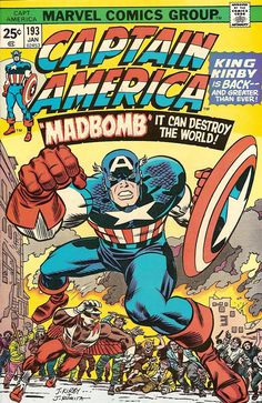 Captain America, No.193. This was the cover Mead used for their notebooks in the mid-70s.
