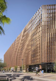 Gallery of tooker house at arizona state university / scb - 18 mall facade, school Building Skin, Building Facade, Building Design, Parametric Architecture, Facade Architecture, Education Architecture, School Architecture, Creative Architecture, Facade Design