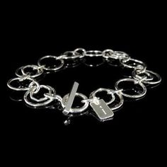 Silver Designer Bracelet | Handcrafted Sterling 925 Jewellery from the UK.  #Handmade Jewellery