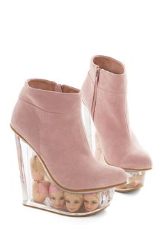 Stride Bright, Stride Far Wedge. Whether youre spending a night on the town or a day at the mall, youll feel like a star in these Icy wedges from Jeffrey Campbell! #pink #modcloth