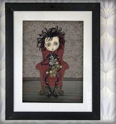 decoración bebé infantil regalo dibujo arte diseño cine amor niños vintage ropa venta digital cuadro ilustración original gótico naif tim burton cuento