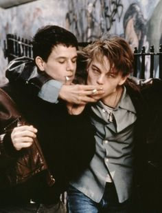 Love this shot! Mark Wahlberg & Leo DiCaprio [ The Basketball Diaries ] (1995)