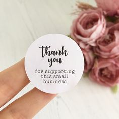 Thank You For Supporting This Small Thank You Labels, Thank You Stickers, Thank You Notes, Small Business Quotes, Support Small Business, Body Shop At Home, The Body Shop, Packaging Stickers, Cupcake Packaging