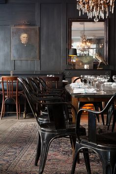 Home Decorating Websites Free Code: 5256669309 Bistro Interior, Restaurant Interior Design, Restaurant Interiors, Chaise Restaurant, Restaurant Bar, Restaurants Gastronomiques, Pub Design, Scandinavian Dining Chairs, Hotel Concept
