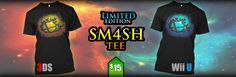"Show your ""Smash 4"" pride with these Epic Limited Edition Tees for 3DS and Wii U! Also in multiple colors!"