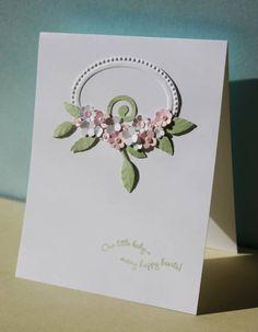 Floral Spray Baby Card