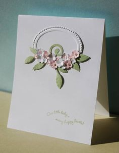 Floral Spray Baby Card