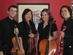 Old picture of Classern String Quartet.  www.classernstringquartet.com