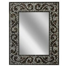 HEADWEST 22 in. x 28 in. Frameless Vanity Mirror in Espresso-8638 - The Home Depot