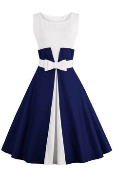 Chicloth One More Time Cute Bow Vintage Dress was made to be admired!Product Code: Two-toned Feminie Bow Design Cap Sleeve Regular wash Fabric: 9 Mode Outfits, Dress Outfits, Fashion Dresses, Dress Clothes, Fashion Clothes, Vintage Dresses, Vintage Outfits, Vintage Fashion, Vintage Clothing