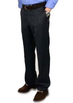 BERLE Charcoal Super 100s Gabardine Trouser