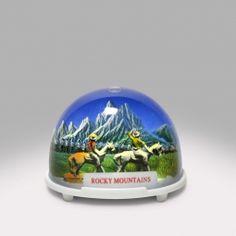 Rocky Mountains Snow Globe