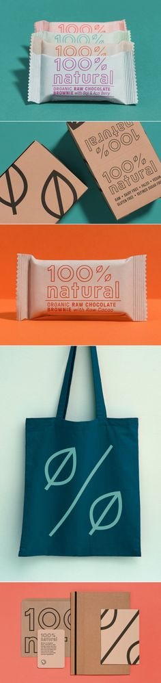 100% Natural — The Dieline - Branding & Packaging Design