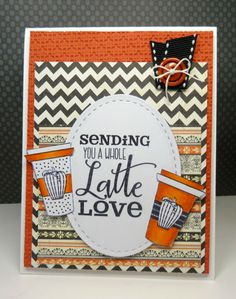 Handmade coffee card by Vickie Zimmer using the Latte Love Digital Set from Verve. #vervestamps