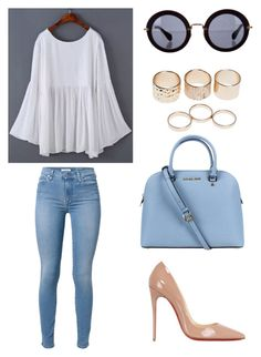 """Gypsy Glam"" by mischievoustyle on Polyvore featuring moda, 7 For All Mankind, Christian Louboutin, Michael Kors, Miu Miu y Wet Seal"