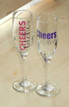 *Please see shop announcement for current production time*    These glasses are a fun way to celebrate any girls night! You can choose from