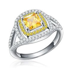 Stainless Steel 1.25ct Ice on Fire CZ Solitaire Promise Ring Infinity
