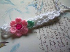 White Crochet Flower Headband. Baby Headband. by Roxana010 on Etsy