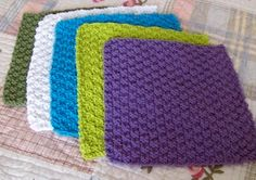 Kitchen Dishcloth ~ Double Seed Stitch Pattern